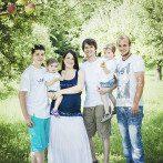 Sommerliches Familienfotoshooting im Grünen