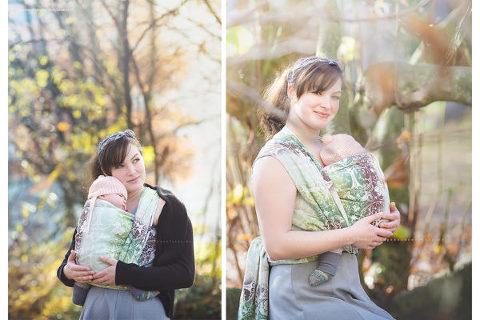 Tragetuch-Fotoshooting von Marion Hassold auf neugeborenenfotos.de