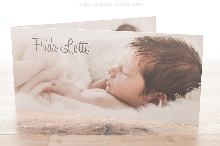Geburtskarten Neugeborenenfotos Esslingen und Stuttgart