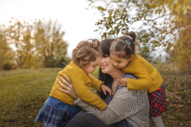 Familienfotos Mutter mit Töchtern