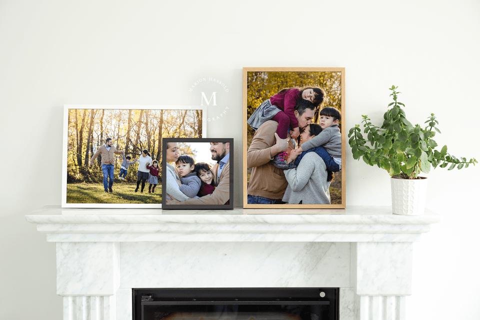 Gerahmte Familienfotos