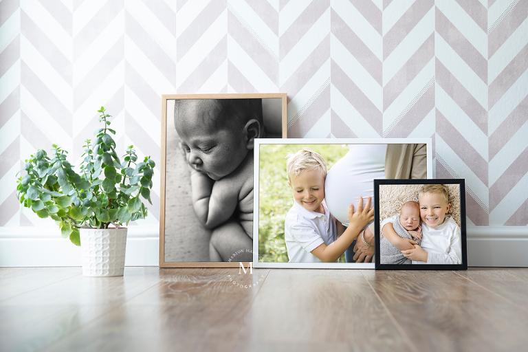 Babybauchfoto in Rahmen